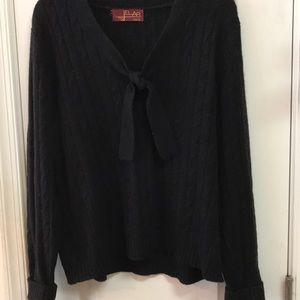 New Cashmere, wool, angora black pullover sweater